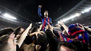 Leo Messi, en la noche mágica ante el PSG, en marzo del 2017.