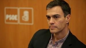El líder del PSOE, Pedro Sánchez, el pasado 20 de diciembre en la sede del partido.