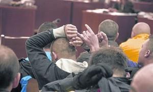 Los Casuals procesados, durante el juicio celebrado el año pasado en la Audiencia de Barcelona.