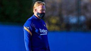 Koeman: «Estic contentíssim amb la feina de l'equip, s'entrena com es juga»