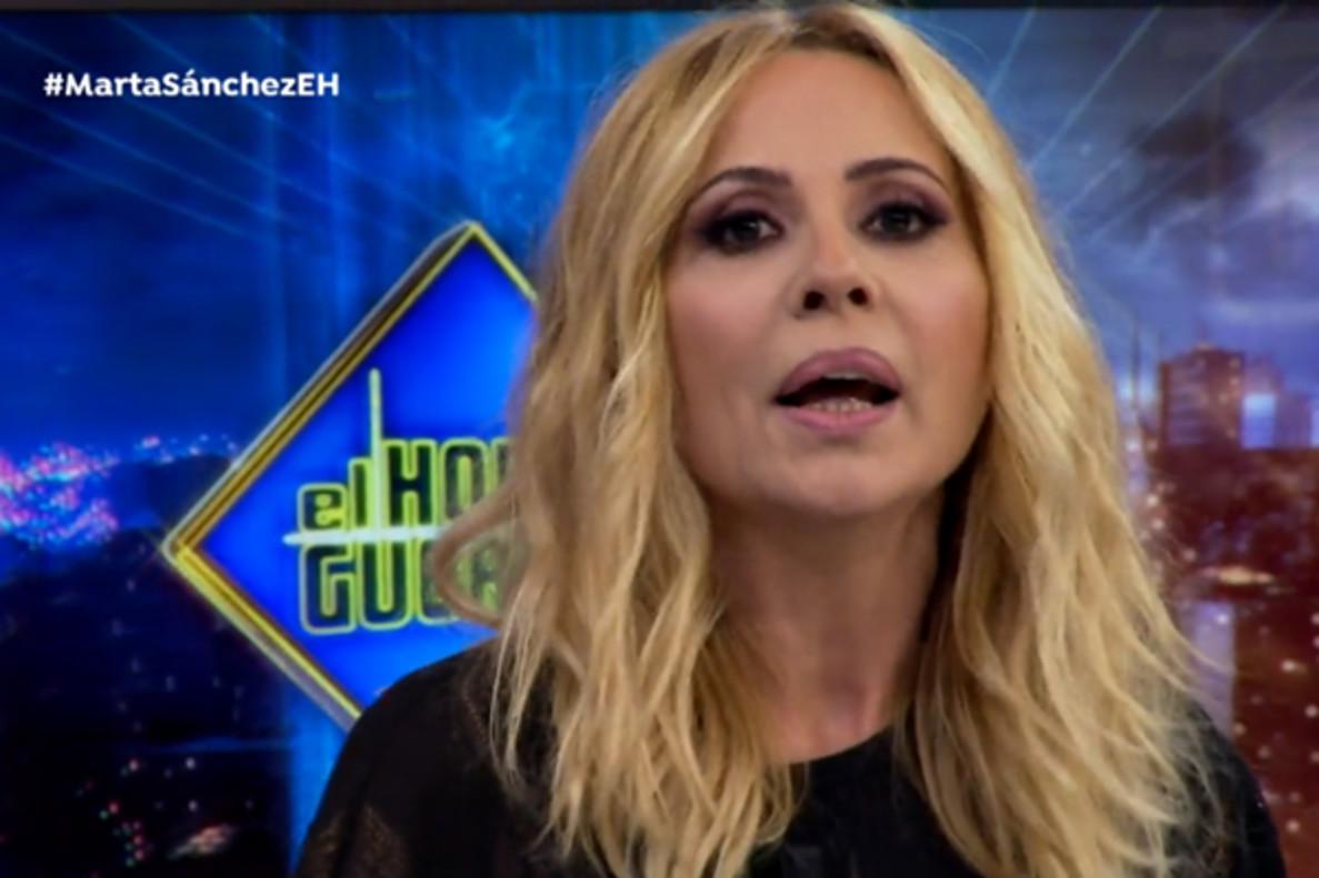 Marta Sánchez responde al «metepatas» Jordi Évole en 'El Hormiguero': «Tributo en España desde que empecé»