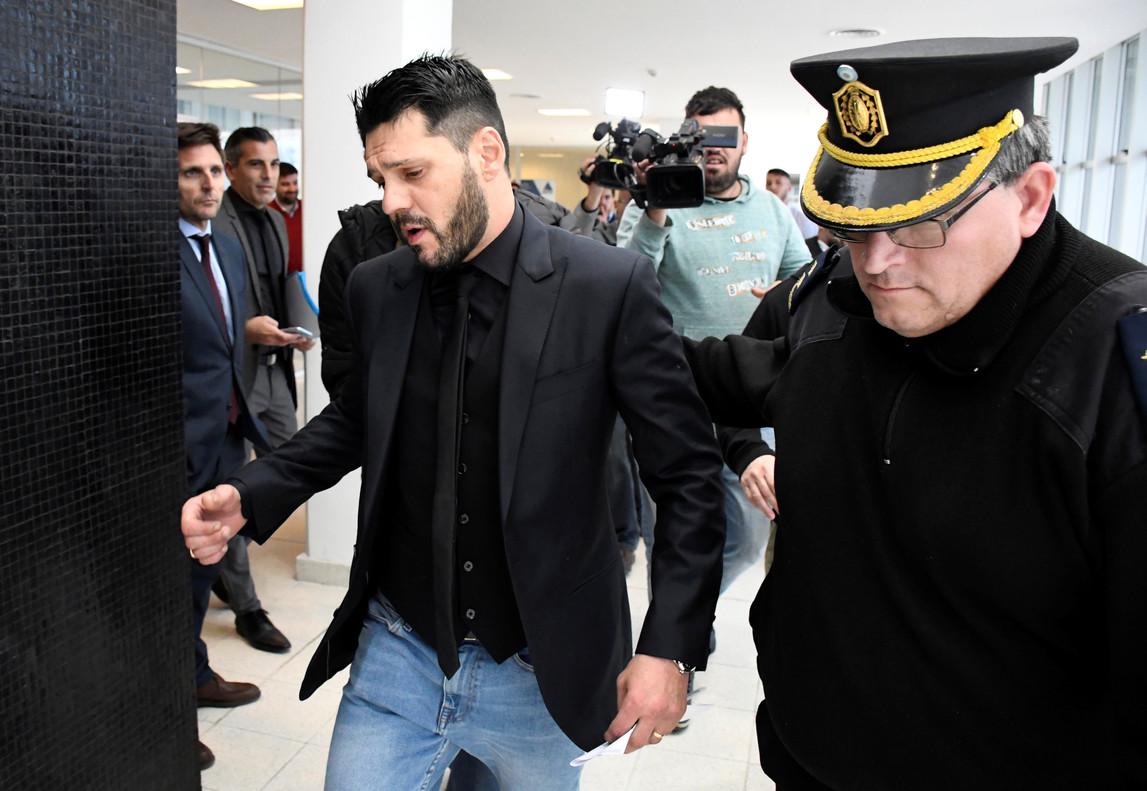 Matias Messi, en los juzgados de Rosario.
