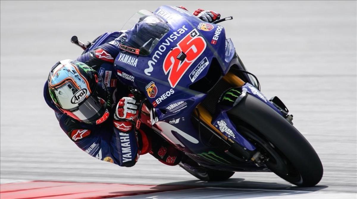Maverick Viñales (Yamaha) ha logrado ser el más veloz hoy en el segundo día de entrenamientos en Sepang (Malasia).