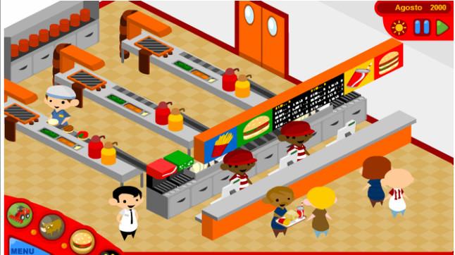 Captura de pantalla del juego McDonalds videogame.