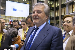 Méndez de Vigo, este jueves en Bruselas.