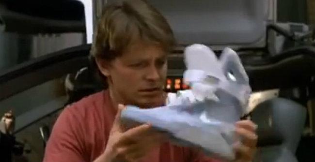 Michael J. Fox, un avançat al seu temps, en qüestió de vambes.