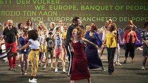 Un momento de la representación de 'Nous, l'Europe', banquet des peuples'