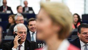 Josep Borrell en la Eurocámara en Estrasburgo.