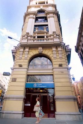 Oficina de Caixa d'Enginyers en la Via Laietana de Barcelona.