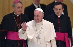 El papa Francesc, en una trobada amb membres del Moviment Juvenil Eucarístic divendres passat.