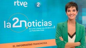 Paula Sainz-Pardo, presentadora de 'La 2 noticias'.