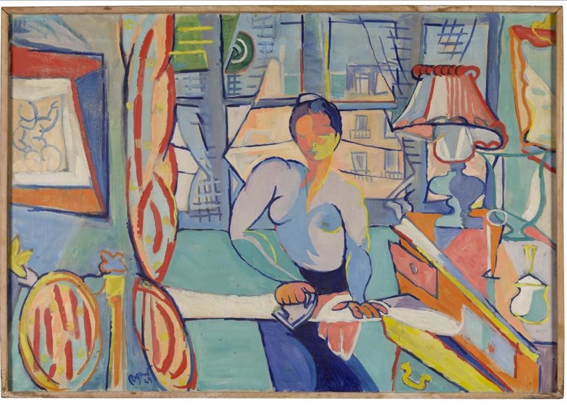 La planxadora (1949), óleo de Ramon Rogent.