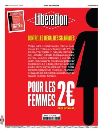 El diario 'Libération', 50 céntimos más caro para los hombres