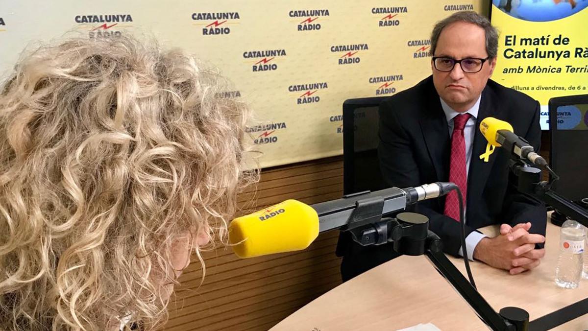 El president de la Generalitat, Quim Torra, entrevistado por Mònica Terribas.