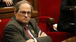El president Quim Torra, en el Parlament.