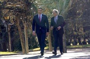 El presidente Pedro Sánchez y el de la Generalitat, Quim Torra, en una foto de archivo