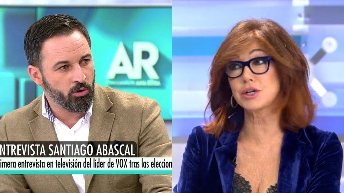 Rifirrafe entre Ana Rosa Quintana y Abascal (Vox) a causa de la violencia machista