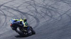 Rossi, en los entrenamientos de Montmeló para el GP de Catalunya.