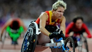 Marieke Vervoort, en una carrera en silla de ruedas.
