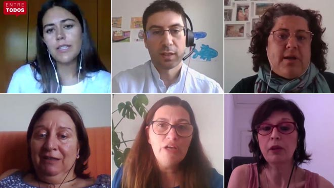 Tres profesores y dos madres y un padre de alumnos debaten en Entre Todos sobre cómo debe ser la 'vuelta al cole' tras la desescalada.