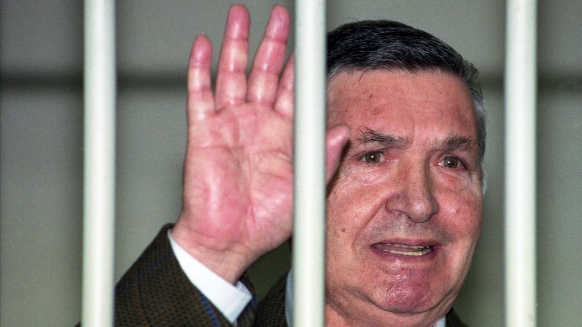 Totò Riina, durante su juicio, en 1993.