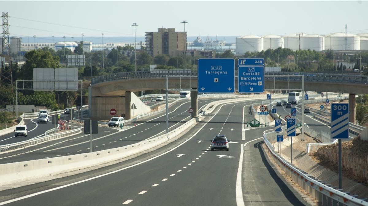 Tramo de la A-27 entre el Morell y Tarragona.