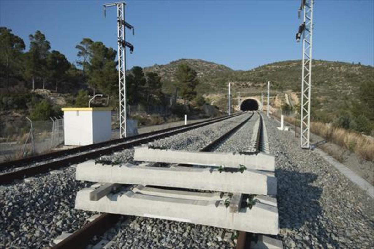 Imagen de archivo de las obras en el corredor mediterráneo en Vandellòs.