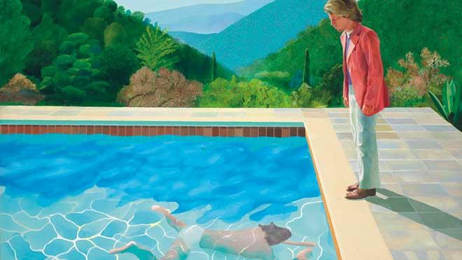Una obra de Hockney se subasta por 90,3 millones en Nueva York y bate récords.