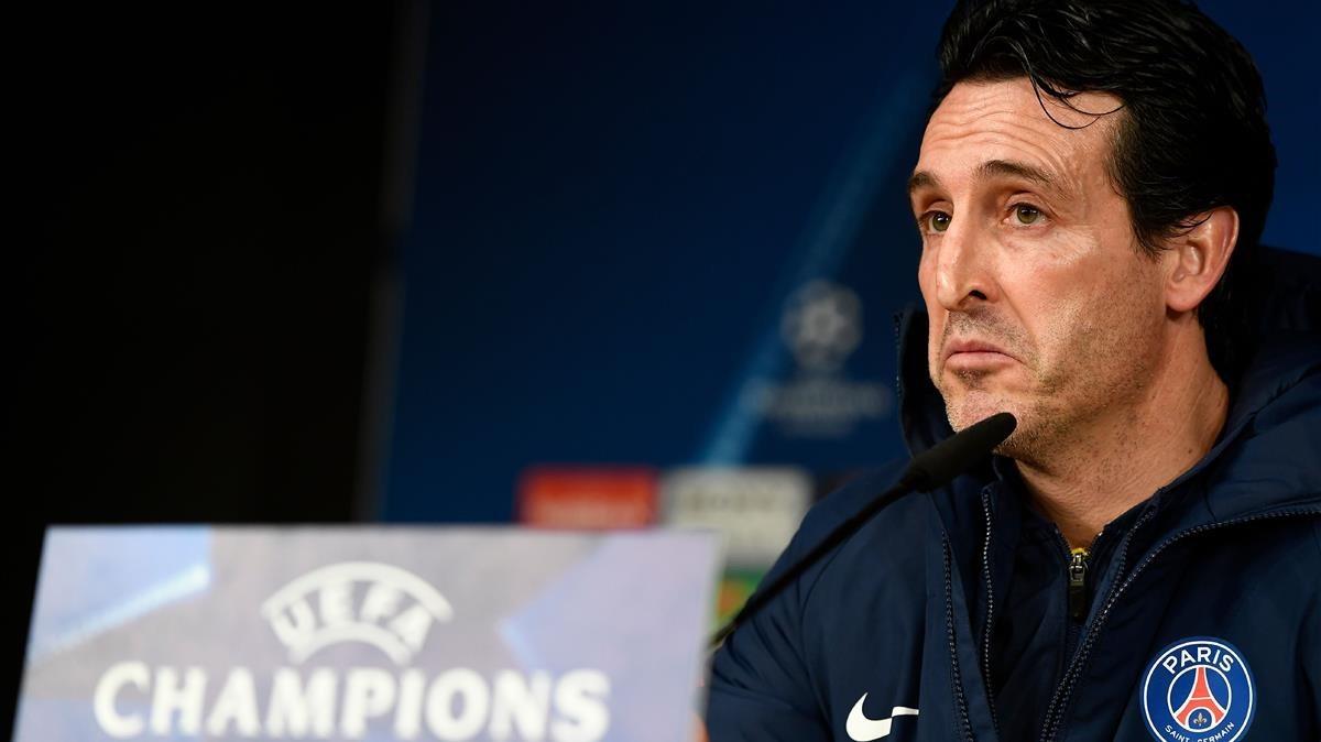 Unai Emery, en la rueda de prensa previa al Real Madrid-PSG.