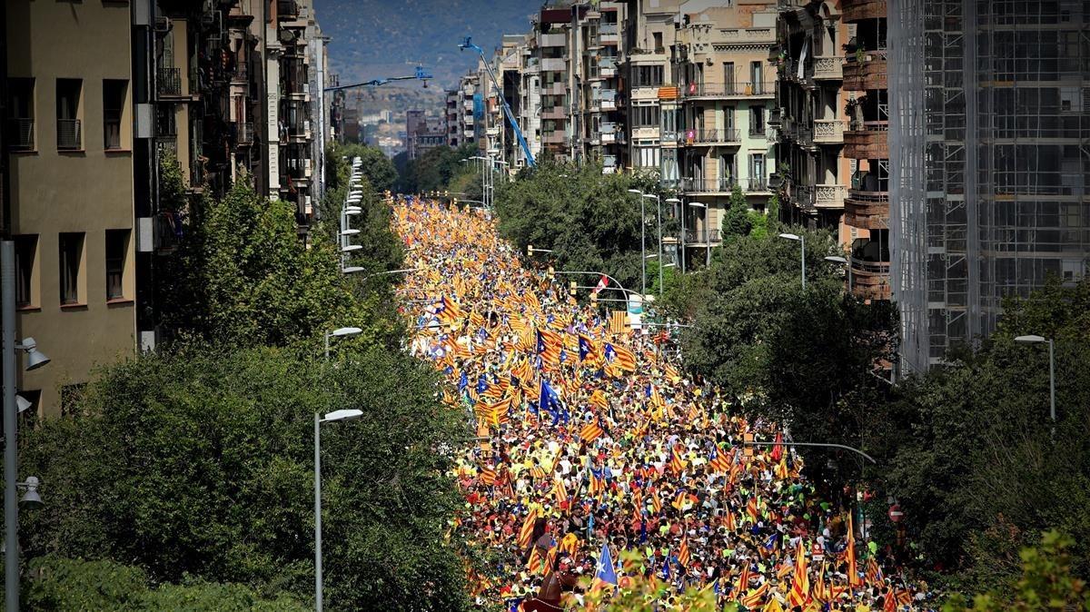 Vista de la calle Aragó desde Casanovas