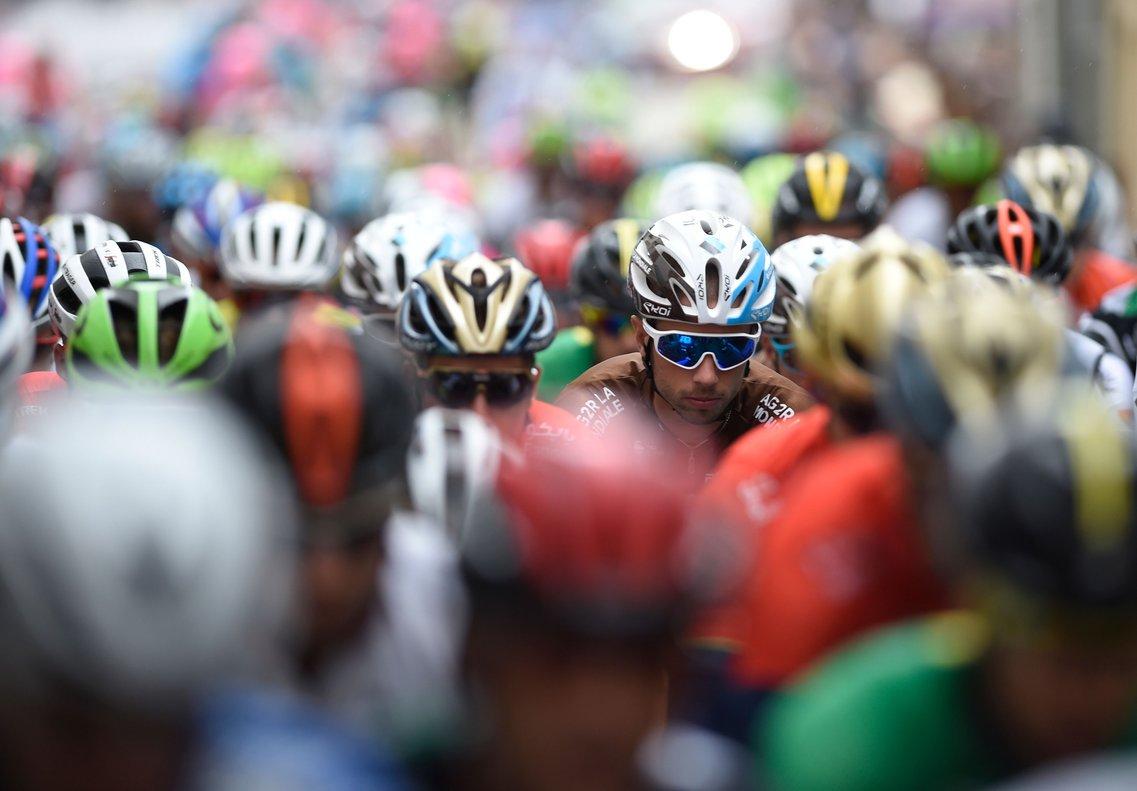 El pelotón de la Vuelta 2018.