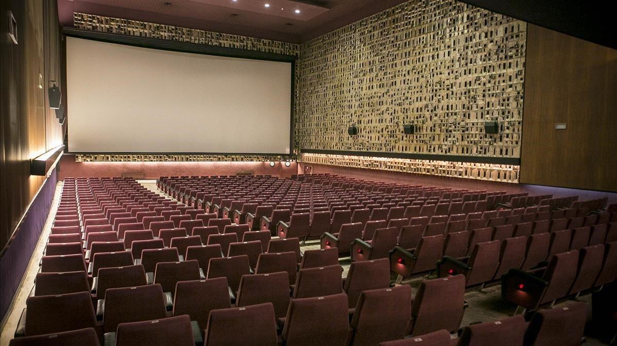 El interior vacíodel cine Aribau, en una foto del 2016.