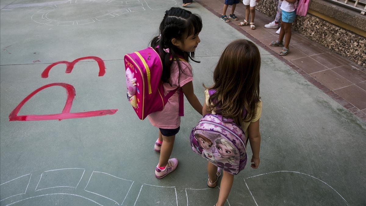 Inicio de curso en el colegio Octavio Paz de Barcelona.