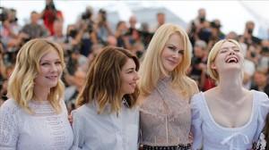 Kirsten Dunst, Sofia Coppola, Nicole Kidman y Elle Fanning, en Cannes.