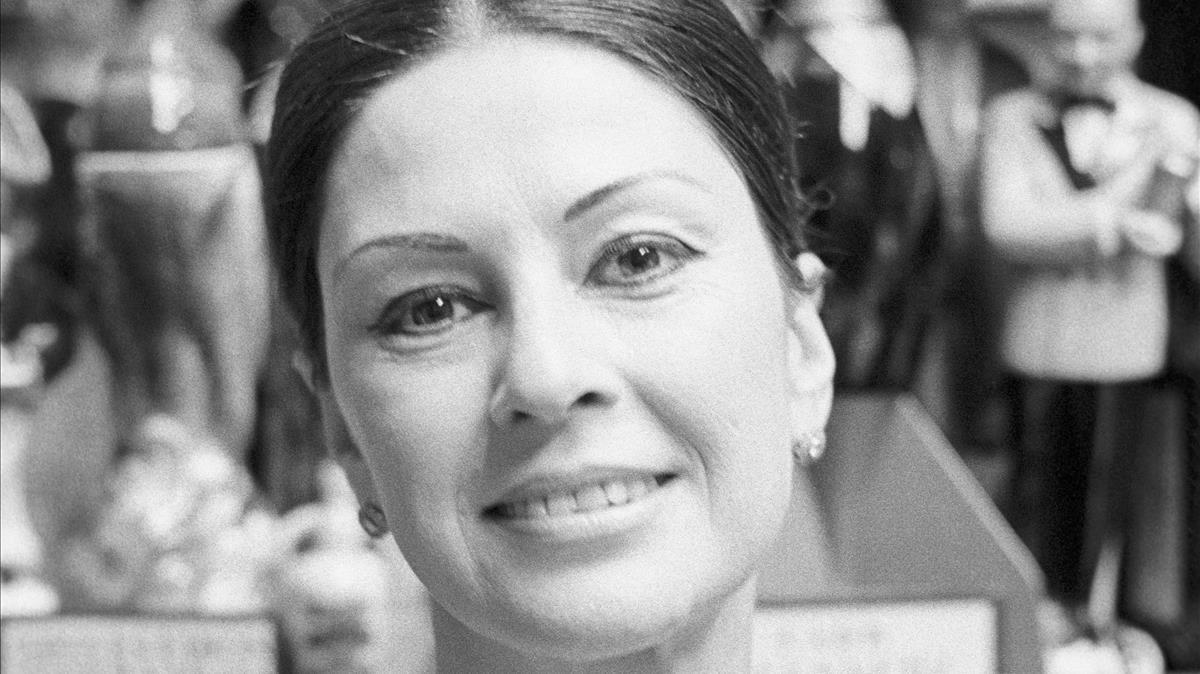 La trapecista Maria Cristina del Pino Segura, másconocida como Pinito del Oro, el 15 de febrero de 1968.