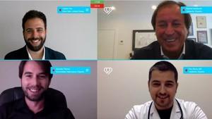 De izquierda a derecha y de arriba aabajo, Vila, Masfurroll;Gonzalo Trenco, director tecnológico; y Pau Serra, director médico de Ehumanlife.