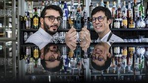 Lucas Marongiu y Gonzalo Rivière, de Zero Patatero, armados para la paz en la mesa.