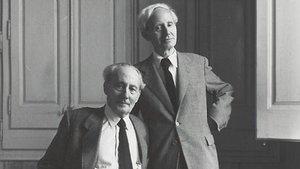Los hermanos Junyer Vidal fotografiados por el estadounidenseIrving Penn en 1948, en Barcelona.