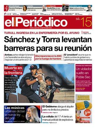 La portada d'EL PERIÓDICO del 13 de desembre del 2018
