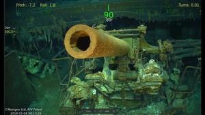 Restos del portaaviones USS Lexington encontrados en el Mar de Coral