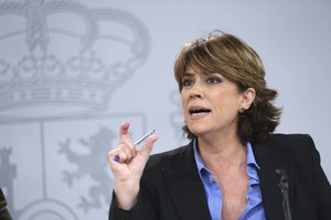 La ministra de Justicia en funciones, Dolores Delgado.