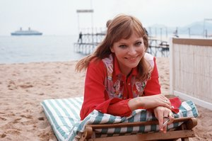 Anna Karina, en el Festival de Cannes de1973.