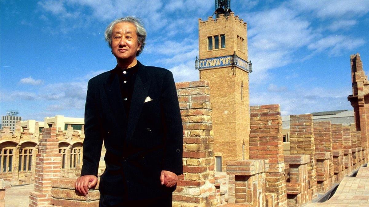 Arata Isozaki en la presentación de seu proyecto arquitectónico en el Caixa Forum