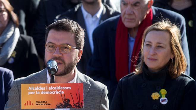 Acto de alcaldes de ERC, en Sant Vicenç dels Horts.