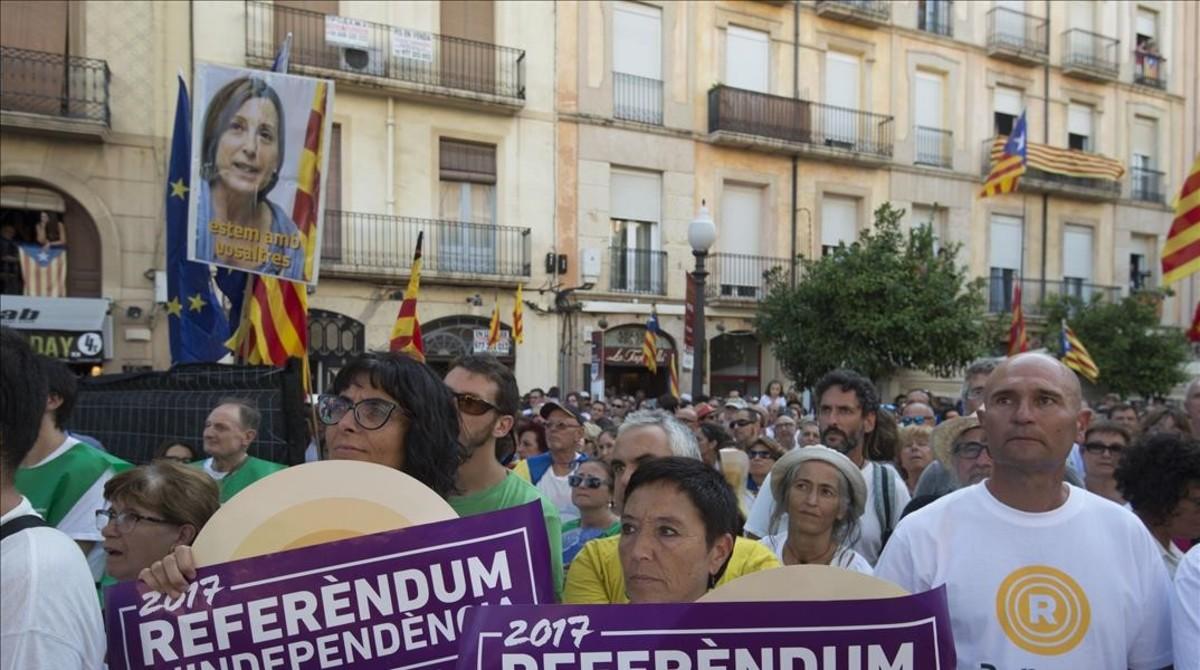 Asistentes a la marcha de Tarragona.