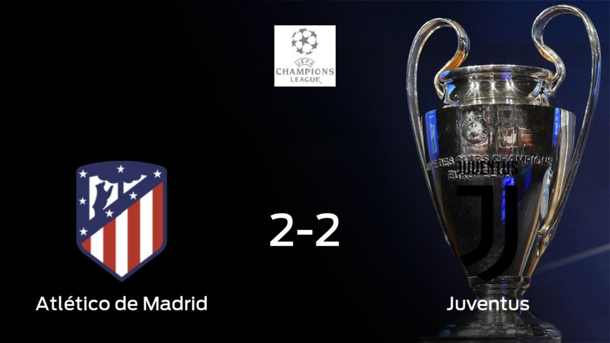 El Atlético de Madridy la Juventusse reparten los puntos en el Wanda Metropolitano (2-2)