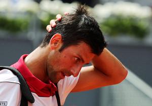Novak Djokovic, antes de caer eliminado.