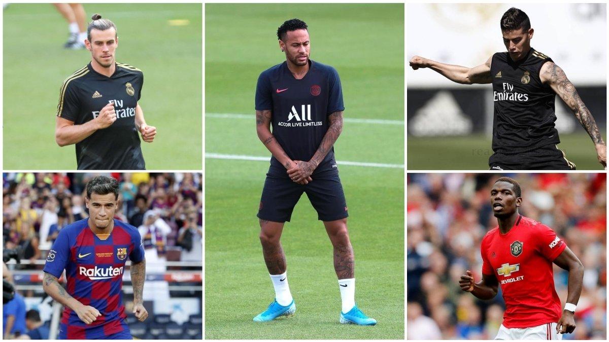 Bale, Coutinho, Neymar, James y Pogba.
