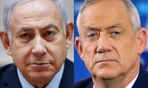 Binyamin Netanyahu y Benny Gantz.