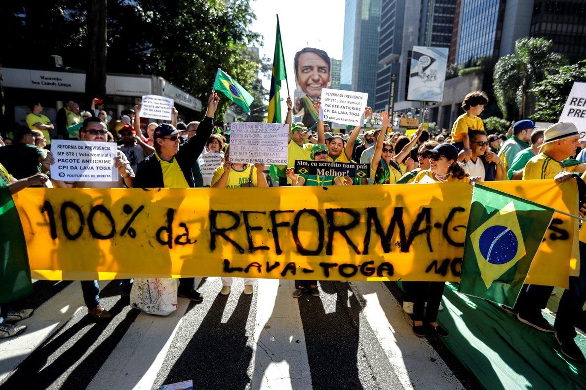 Simpatizantes del presidente brasileño, Jair Bolsonaro.